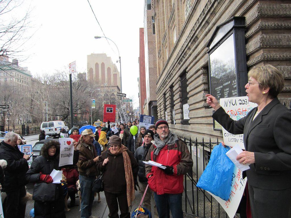 Feb2012 Rally Against NYU 2031 Plan